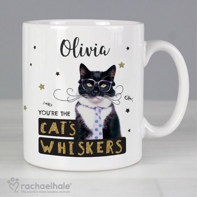 Personalised Rachael Hale Mug -  You're the Cat's Whiskers